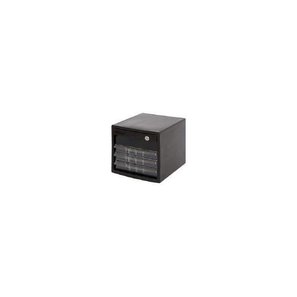 ナカバヤシ A4鍵付レターケース4段 A4E-SK4B オフィス家具・レターケース