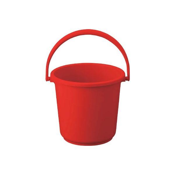 TRUSCO PPカラーバケツ 10L 赤 TPPB-10-R 清掃用品・バケツ