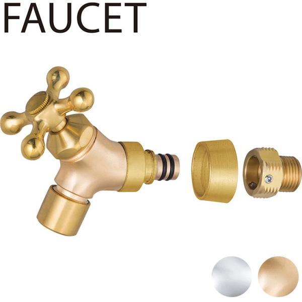 イージーフォーセット 泡沫アダプターセット シルバー/ゴールド 蛇口 青銅鋳物 日本製 代引不可