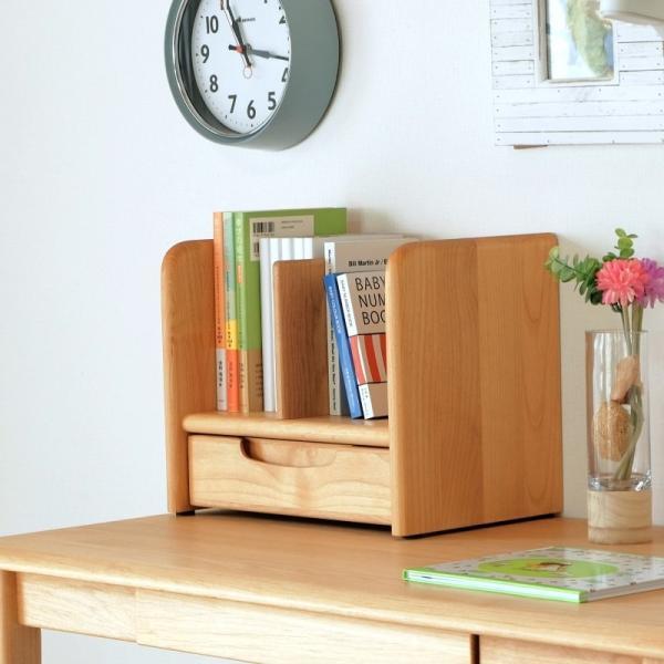 ブックスタンド 本立て 木製 卓上 完成品 収納 ラック 本棚 子供部屋 子ども 引き出し キッズ 書斎 本棚 ブックエンド おしゃれ かわいい シンプル 代引不可