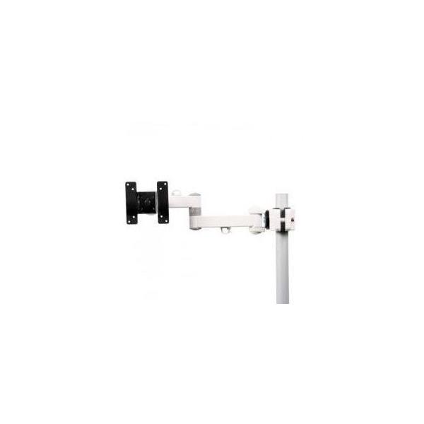 サンコー 4軸式クリップモニタアームSLIM(ホワイト) MARMGUS129AW モニターアーム