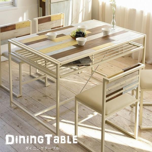 ダイニングテーブル 天然木 北欧 木製 テーブル 作業台 ダイニングセット 北欧 木製 アイアン おしゃれ アンティーク スタイリッシュ 代引不可