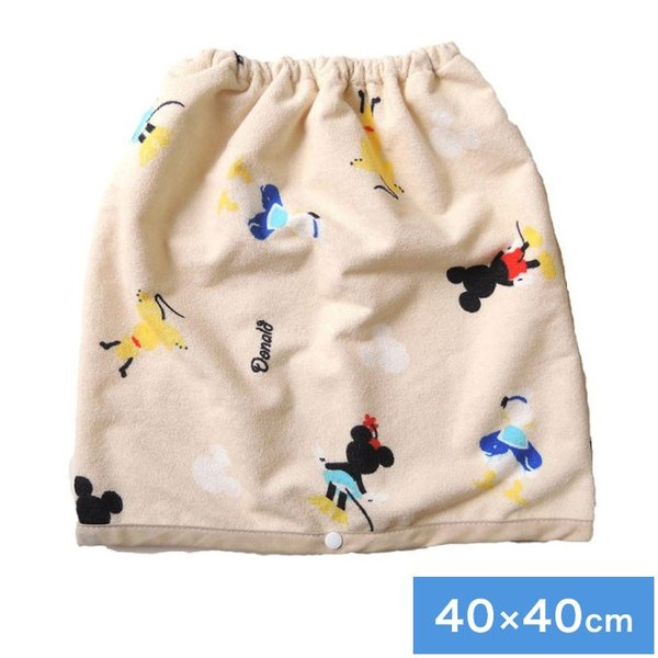 ディズニーおねしょケット 40×40cm ディズニー パイル生地 巻きタオル型 洗濯機で洗える おねしょシーツ 防ダニ 代引不可