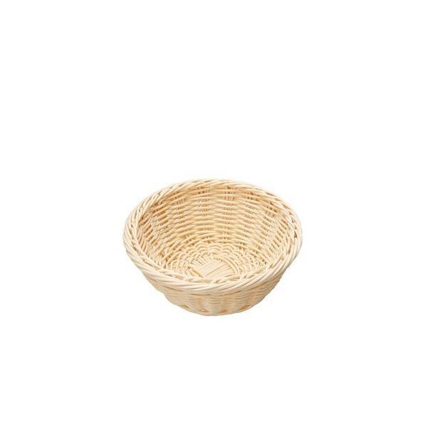 萬洋 樹脂バスケット 丸型 白 91-079A WBS8105