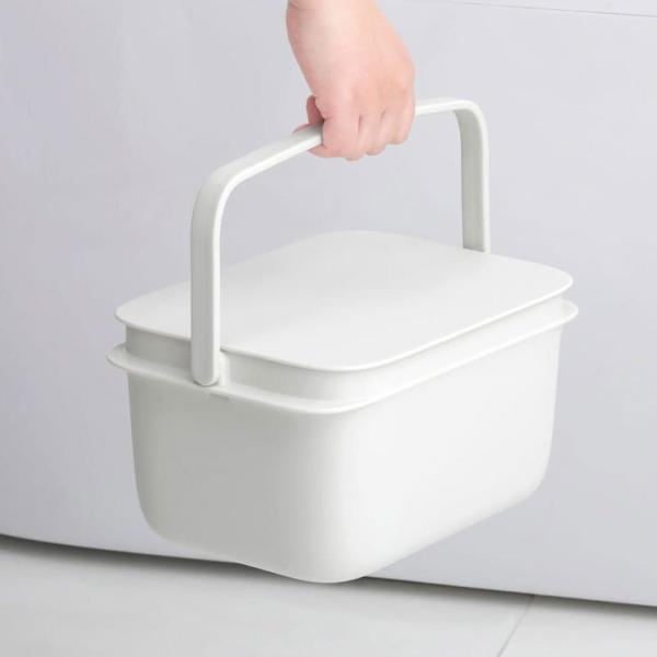 マーナ バケツ 5L そうじ ふた付 四角 つけ置き 蓋付きバケツ 漬け置き洗い 桶 角型 収納 洗濯物 収納ボックス 子供部屋 marna