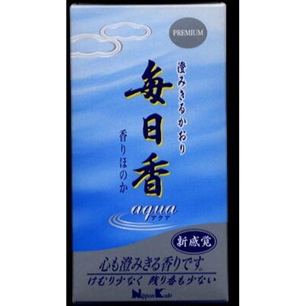 日本香堂 毎日香アクア 120g 薫香剤 お線香 仏事線香 代引不可