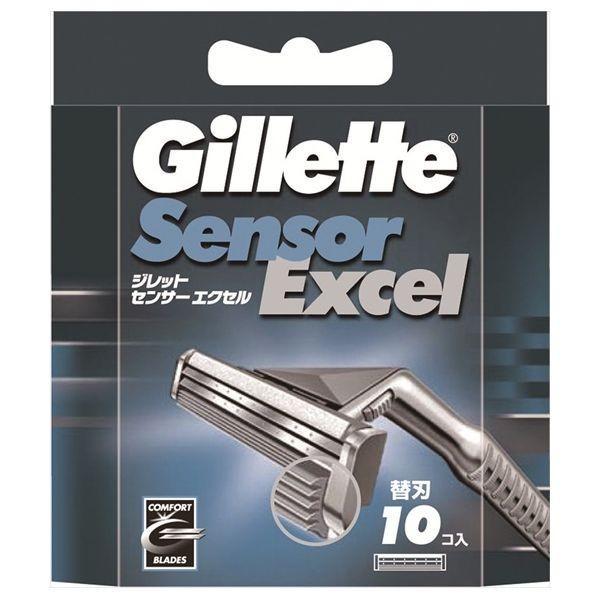 P&G ジレット ジレット センサーエクセル 替刃 10個 カミソリ 男性用 替刃 代引不可