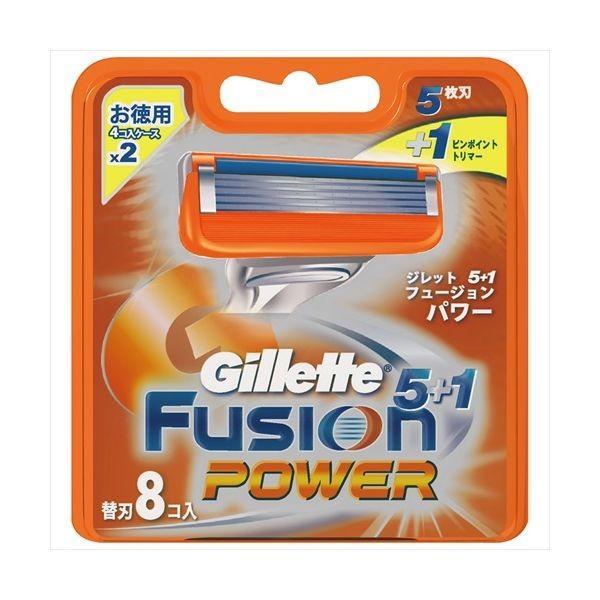 P&G ジレット ジレット フュージョン5+1パワー替刃 8個 カミソリ 男性用 替刃 代引不可