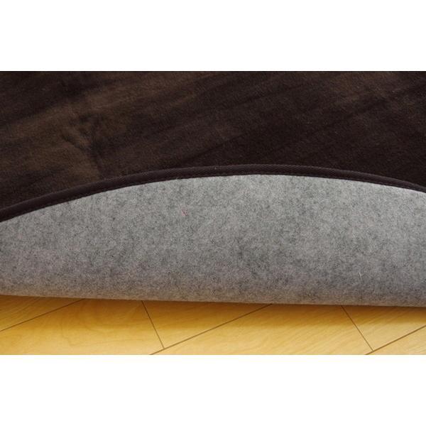 ラグ カーペット だ円 無地 フランネル フランアイズ アイボリー 約100×140cm楕円 ホットカーペット対応 代引不可
