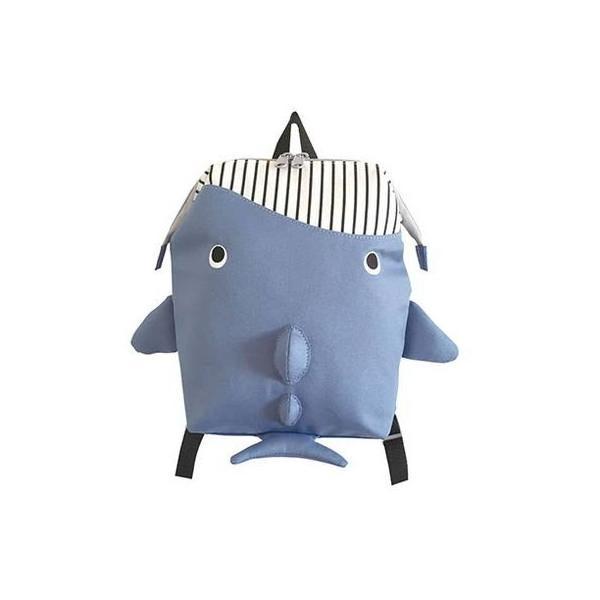 リュックサック クジラ ブルー かわいい かばん リュック おしゃれ 魚 子供 プレゼント 水族館 代引不可