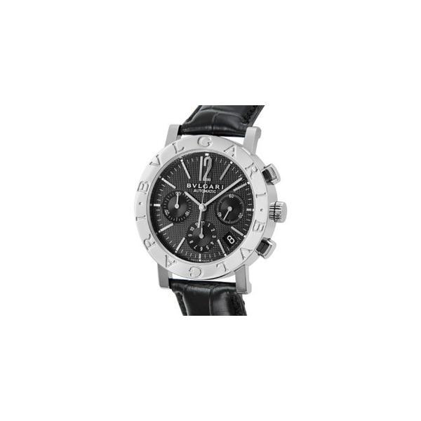 3d5a003a3249 ブルガリ BVLGARI ブルガリブルガリ クロノ オートマチック メンズ 腕時計 BB38BSLDCH ブラックの画像