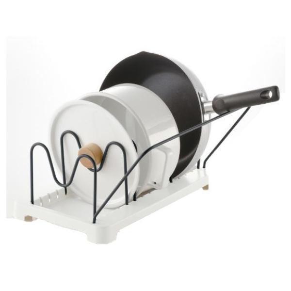 リッチェル トトノ 引き出し用 鍋フライパンスタンドN レギュラー フライパン 蓋 スタンド 縦置き スペース 活用