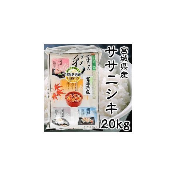 令和2年度産 宮城県産 ササニシキ 20kg 特別栽培米 新米
