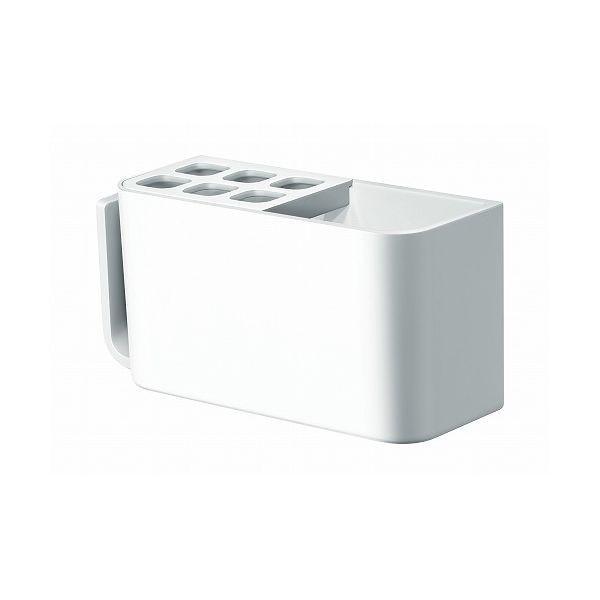 アスベル RAXE ラックスMG マグネット 歯ブラシラック ホワイト 5858 歯ブラシ スタンド ラック 浴室 収納 壁面 バス 磁石 白 代引不可