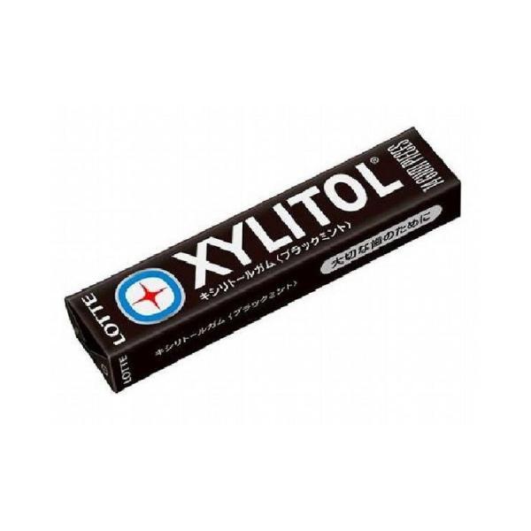 まとめ買い ロッテ キシリトールガム ブラックミント 14粒 x20個セット 食品 業務用 大量 まとめ セット セット売り 代引不可