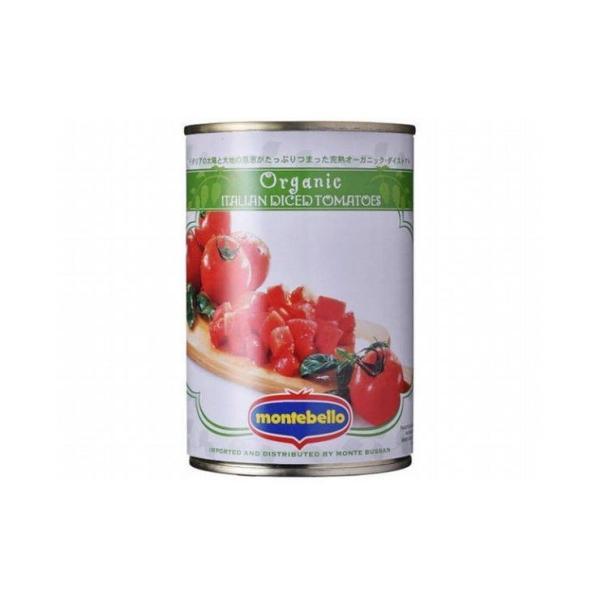 まとめ買い モンテベッロ 有機 ダイストマト 400g x24個セット まとめ セット まとめ販売 セット販売 業務用 代引不可
