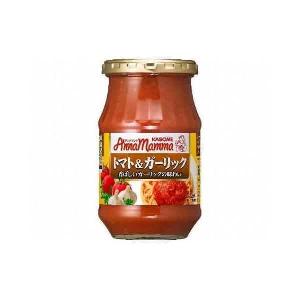 まとめ買い カゴメ アンナマンマ トマト&ガーリック 瓶 330g x6個セット まとめ セット まとめ売り セット売り 業務用 代引不可