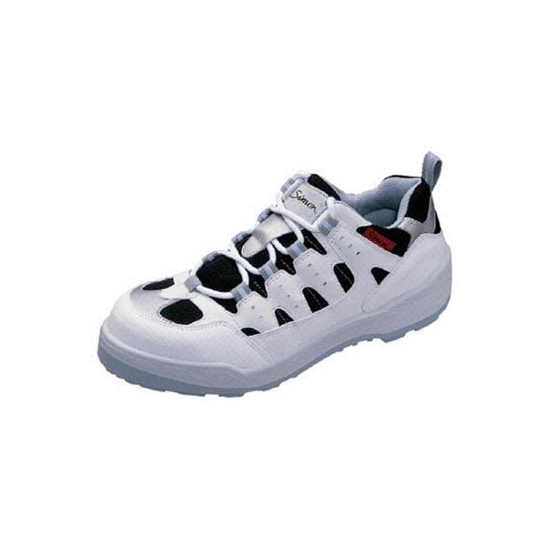 シモン プロスニーカー 短靴 8800白/黒 26.0cm 8800W-26.0 安全靴・作業靴・プロテクティブスニーカー