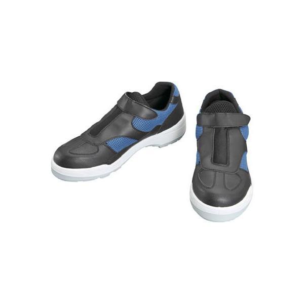 シモン プロスニーカー 短靴 8818黒/ブルー 27.5cm 8818B/BK-27.5 安全靴・作業靴・プロテクティブスニーカー
