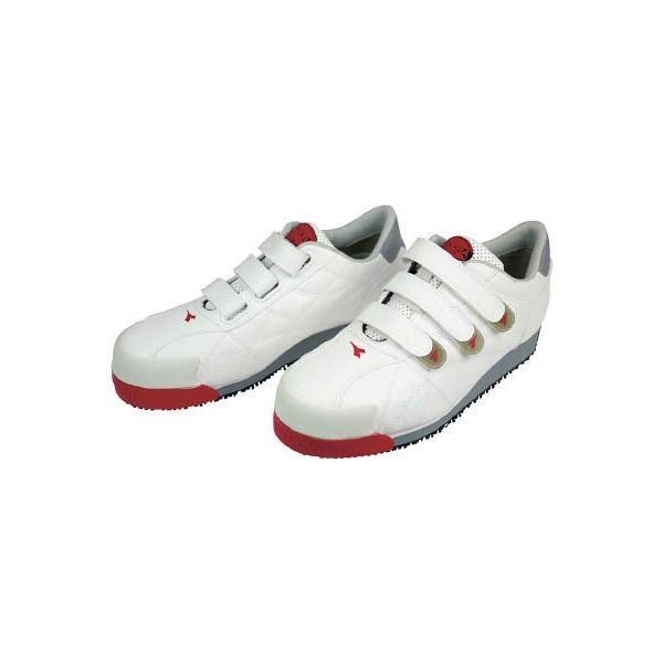 ディアドラ DIADORA 安全作業靴 アイビス 白 24.0cm IB11-240 安全靴・作業靴・プロテクティブスニーカー