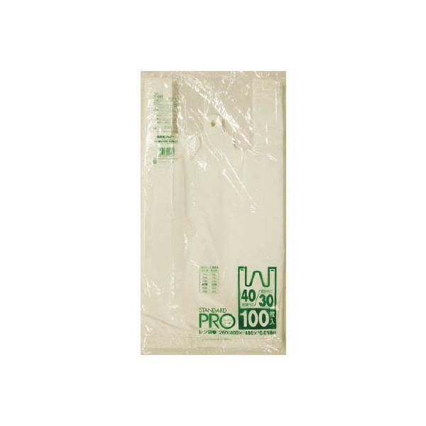 サニパック Y−6Hレジ袋乳白30/40号 Y-6H-W 清掃用品・ゴミ袋