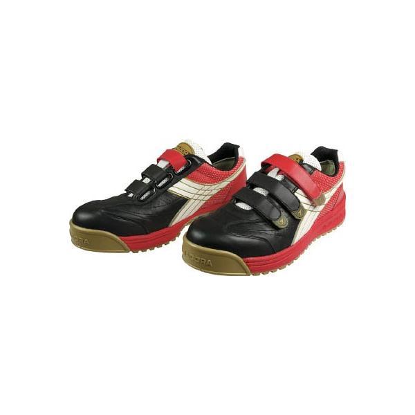 ディアドラ DIADORA 安全作業靴 ロビン 黒/白/赤 27.0cm RB213-270 安全靴・作業靴・プロテクティブスニーカー