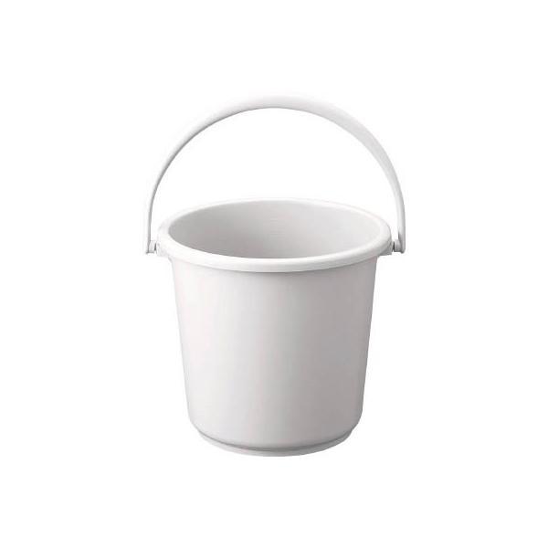 TRUSCO PPカラーバケツ 10L 白 TPPB-10-W 清掃用品・バケツ