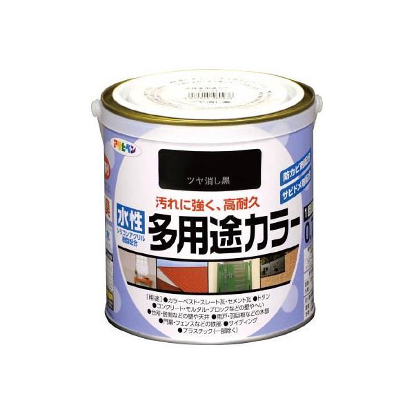 アサヒペン 水性多用途カラー 0.7L ツヤ消し黒 460936