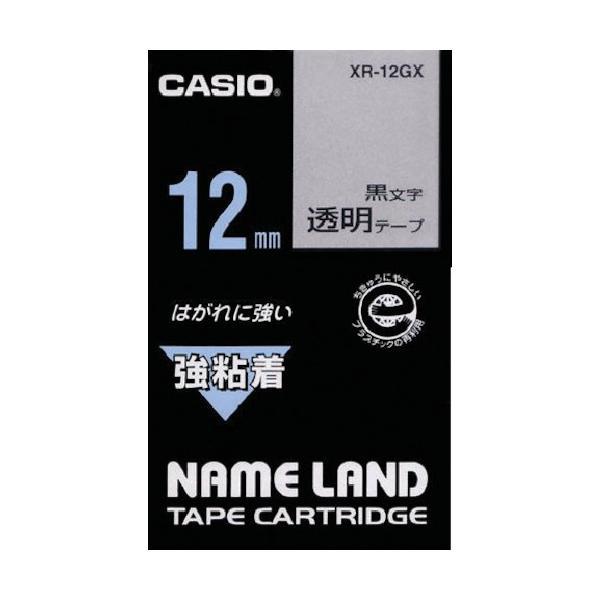 カシオ ネームランド用強粘着テープ12mm XR12GX
