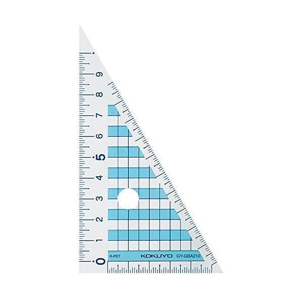 コクヨ 三角定規12CM GY-GBA210
