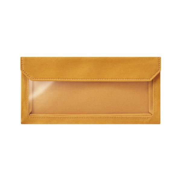 キングジム FLATTYWORKS ペンケ-ス 黄色 5478 かわいい おしゃれ シンプル