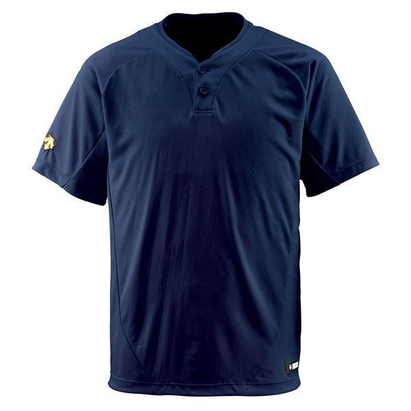 デサント(DESCENTE) ベースボールシャツ(2ボタン) (野球) DB201 Dネイビー S