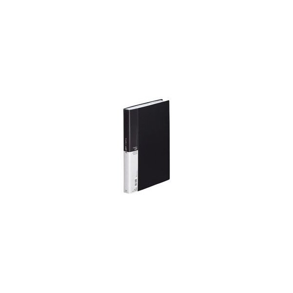 (業務用5セット) LIHITLAB 名刺ホルダー/名刺ファイル 〔A4〕 片面ポケット ヨコ入れ A-946 黒 ×5セット