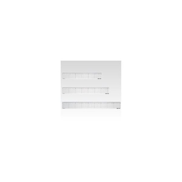 (業務用セット) 方眼直定規 2mm厚 CR-HR30R 1本入 〔×30セット〕