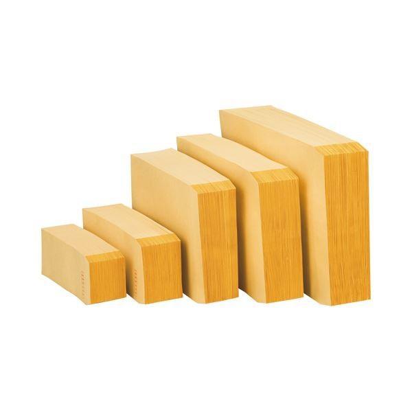 (まとめ) ピース R40再生紙クラフト封筒 長3 70g/m2 〒枠あり 業務用パック 481-80 1箱(1000枚) 〔×2セット〕