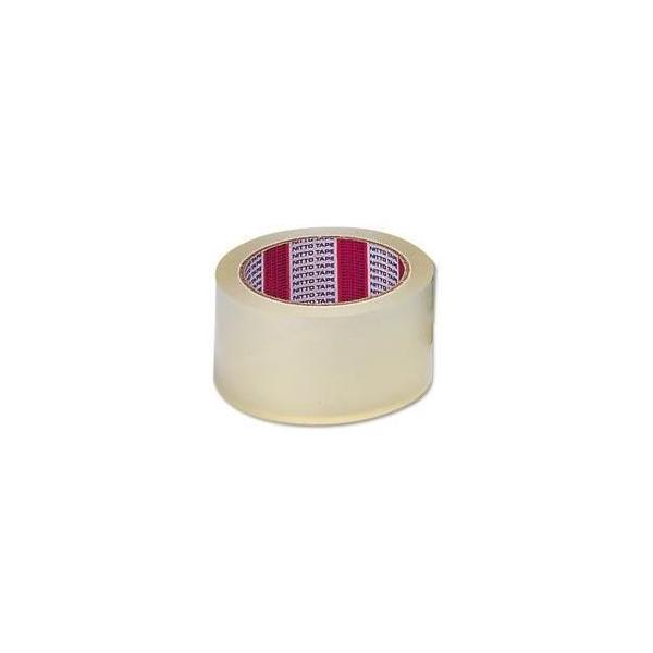 (業務用セット) ニットー 透明梱包用テープ カッターなし 〔×10セット〕