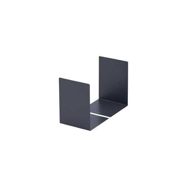 (業務用セット) カール L型ブックエンド 2枚組 グレー 〔×5セット〕