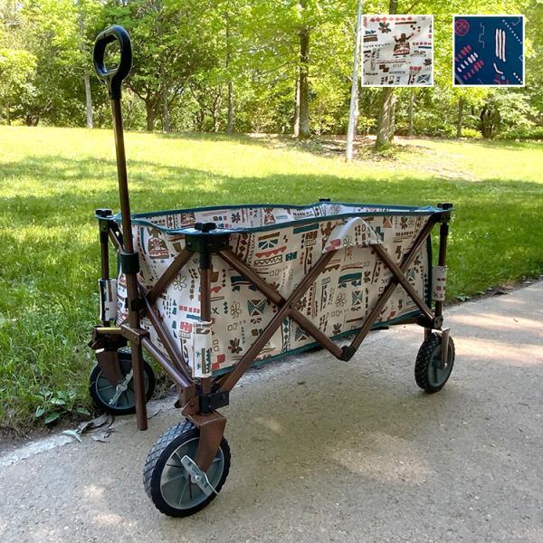 キャリーカート FSキャリーワゴン 折りたたみ アウトドアワゴン アウトドアキャリー 折り畳み 大容量 ネイティブ柄 エスニック柄 代引不可