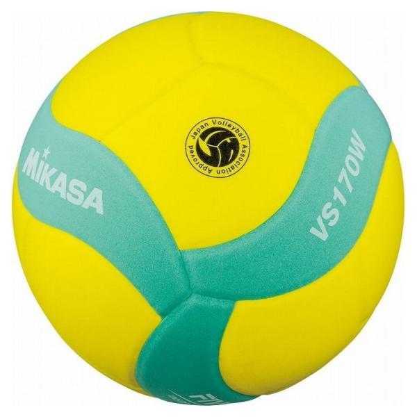 ミカサ MIKASA MIKASA ミカサ スマイルバレーボール5号球 FIVB公認スマイルバレー5号 イエロー×グリーン VS170WYG