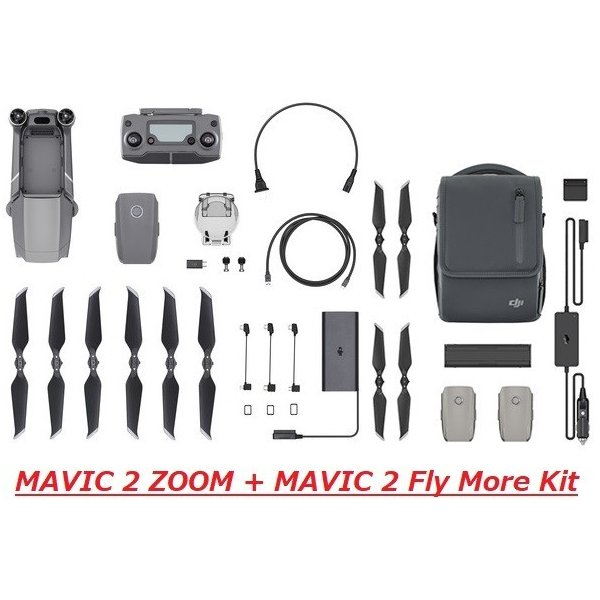 DJI ドローン MAVIC 2 ZOOM + MAVIC 2 Fly More Kit 損害賠償保険初年度無償|rct-one