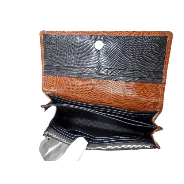 b43476ccf240 長財布 レディース 財布 レディースタイプ・オールリザード/ブラウン ...