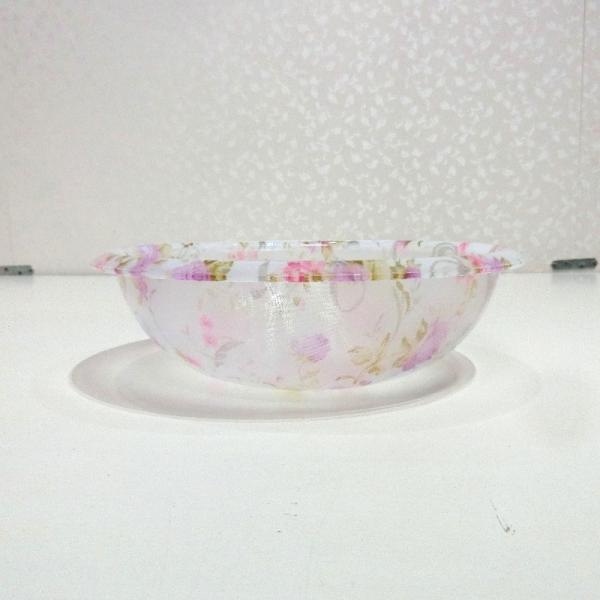 バスボウル小 ピンク アニマローズシリーズ アクリル製バスボウル薔薇 エレガントなアクリル製洗面器 バスボウル 桶 バス用品 RE58553|re-l|04