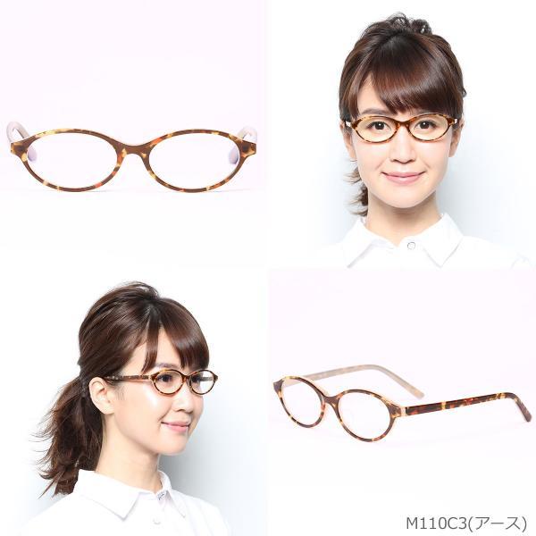 老眼鏡 ブルーライトカット リーディンググラス おしゃれシニアグラス 女性用 レディース 高級アセテート使用 オーバルモデル(M-110)ケース付|readingglasses|06