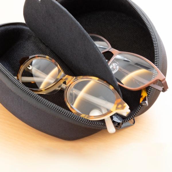 2本収納できるメガネケース セミハードタイプ