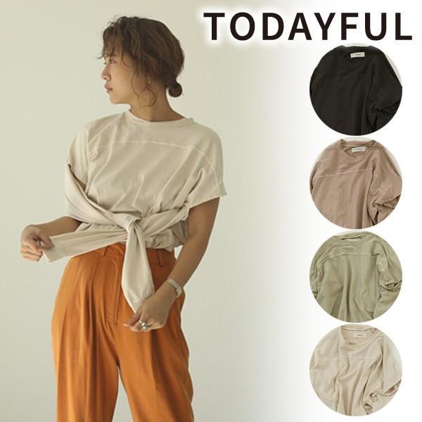 \期間限定ポイント5倍/即日発送/TODAYFUL トゥデイフル/Sleeve Slit Long T-Shirts 12010614 /2020SS新作/あすつく