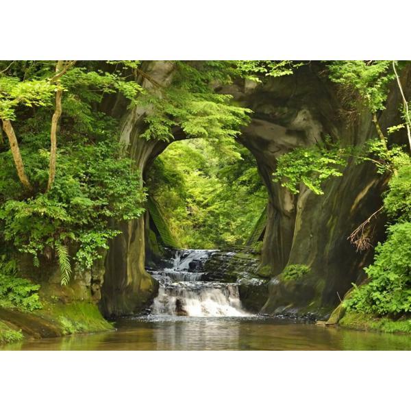 絵画風 壁紙ポスター  亀岩の洞窟 濃溝の滝 神秘的 癒し パワー キャラクロ NMT-003A2 (A2版 594mm×420mm)|real-inter