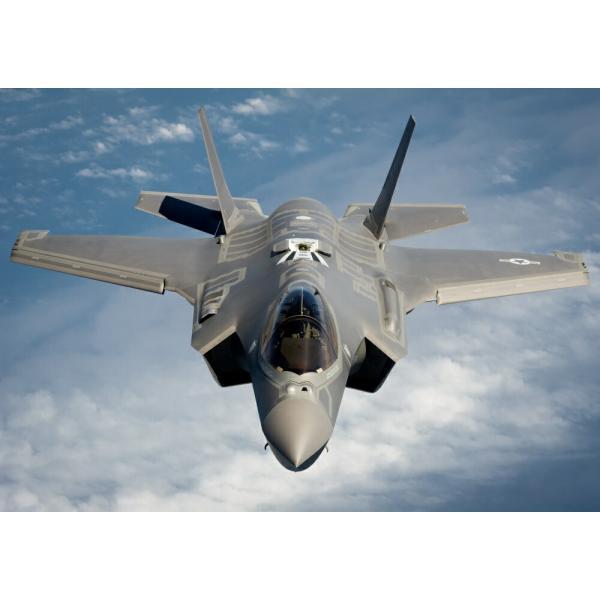 絵画風 壁紙ポスター  ステルス戦闘機 F-35A ライトニング2 USエアフォース 統合打撃戦闘機 JSF ミリタリー キャラクロ XF35-002A2 (A2版 594mm×420mm)