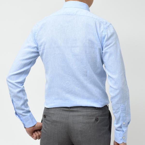 GUY ROVER ギローバー リネン コットン ソリッド イタリアンカラーシャツ|realclothing|11
