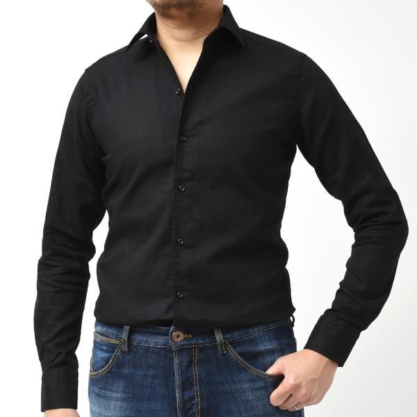 GUY ROVER ギローバー リネン コットン ソリッド イタリアンカラーシャツ|realclothing|12