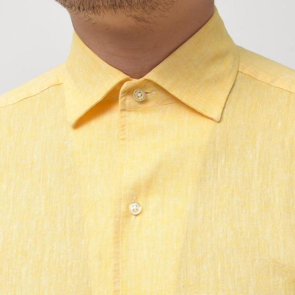 GUY ROVER ギローバー リネン コットン ソリッド イタリアンカラーシャツ|realclothing|04